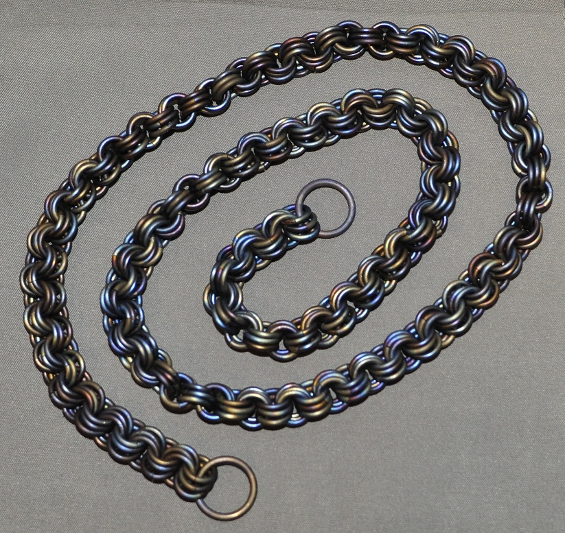 Custom titanium wallet chains and bracelets for How to make a paracord wallet chain